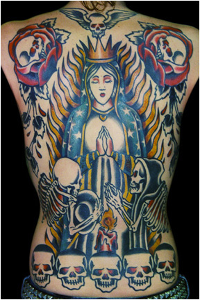 Guadalupe tattoo by Greg Foster.